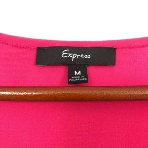Express Tops - Express| Hot Pink Blouse Waterfall Neckline